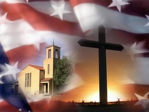 flag church cross